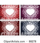 Vector Heart Background Clipart by Qiun