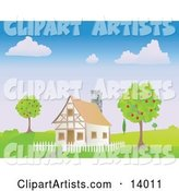Vector House Clipart by Rasmussen Images