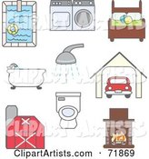 Vector Household Clipart by Inkgraphics