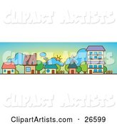 Vector Houses Clipart by NoahsKnight