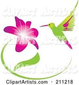 Vector Hummingbird Clipart by Eugene