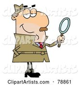 Vector Investigator Clipart by Hit Toon