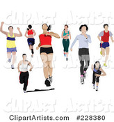 Vector Jogging Clipart by Leonid