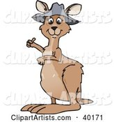 Vector Kangaroo Clipart by Dennis Holmes Designs