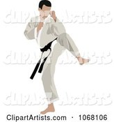 Vector Karate Clipart by Leonid