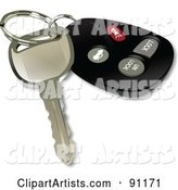 Vector Key Fob Clipart by Leonid