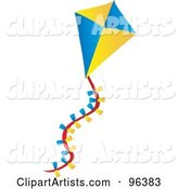 Vector Kite Clipart by Rasmussen Images