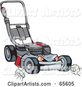 Vector Lawn Mower Clipart by Dennis Holmes Designs