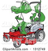 Vector Lawn Mower Clipart by LaffToon