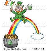 Vector Leprechaun Clipart by LaffToon