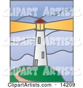 Vector Lighthouse Clipart by Rasmussen Images
