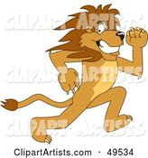 Vector Lion Character Clipart by Toons4Biz