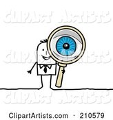 Vector Magnifying Glass Clipart by NL Shop