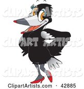 Vector Magpie Clipart by Dennis Holmes Designs