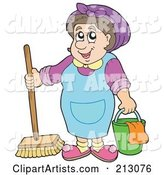 Vector Maid Clipart by Visekart