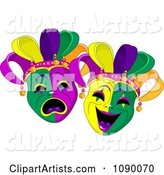 Vector Mardi Gras Clipart by Pushkin