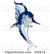 Vector Marlin Clipart by Dennis Holmes Designs
