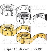 Vector Measuring Tape Clipart by Inkgraphics