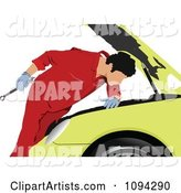 Vector Mechanic Clipart by Leonid