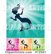Vector Mermaid Clipart by Cidepix
