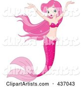 Vector Mermaid Clipart by Pushkin