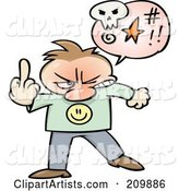 Vector Middle Finger Clipart by Gnurf