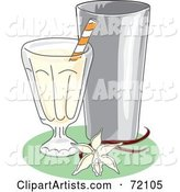 Vector Milkshake Clipart by Inkgraphics