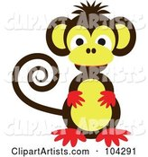 Vector Monkey Clipart by Kaycee