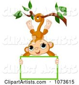 Vector Monkey Clipart by Pushkin