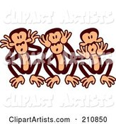 Vector Monkey Clipart by Zooco