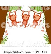 Vector Monkeys Clipart by BNP Design Studio
