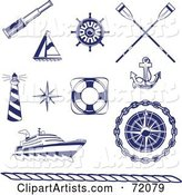 Vector Nautical Clipart by Inkgraphics