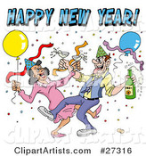 Vector New Year Clipart by LaffToon