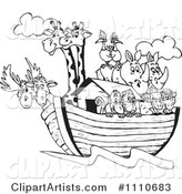 Vector Noahs Ark Clipart by Dennis Holmes Designs