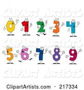 Vector Numbers Clipart by Hit Toon