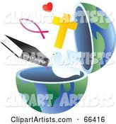 Vector Open Globe Clipart by Prawny