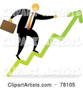 Vector Orange Faceless Businessman Clipart by Qiun