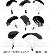 Vector Parachute Clipart by Leonid