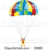 Vector Parachute Clipart by Rasmussen Images