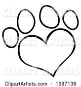 Vector Paw Prints Clipart by Hit Toon