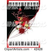 Vector Piano Clipart by Leonid