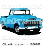 Vector Pickup Truck Clipart by Leonid