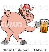 Vector Pig Clipart by LaffToon