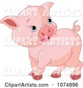 Vector Pig Clipart by Pushkin