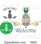 Vector Pineapple Clipart by Inkgraphics