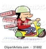 Vector Pizza Clipart by Gnurf