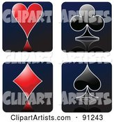 Vector Playing Cards Clipart by Leonid