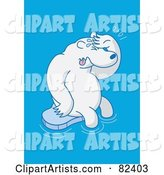 Vector Polar Bear Clipart by Zooco