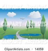 Vector Pond Clipart by Rasmussen Images