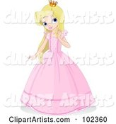 Vector Princess Clipart by Pushkin